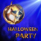 3d illustration Halloween disco ball. Party. Render of Halloween disco ball party on blue Stock Photo
