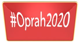 Hash tag Oprah 2020 trending Royalty Free Stock Images