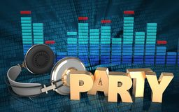 3d party sign party sign Royalty Free Stock Photos