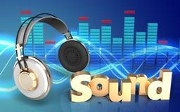 3d headphones headphones Royalty Free Stock Images