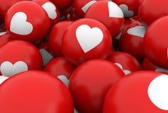 Heart balls background. 3d rendering vector illustration