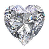 3D illustration heart diamond stone. On a white background Royalty Free Stock Image