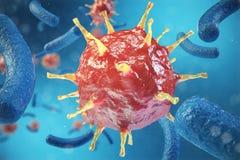 3d Illustration, Hepatitis, H1N1, HIV, FLU, AIDS viruses abstract background. Hepatitis viruses in infected organism. 3d Illustration, Hepatitis, H1N1, HIV, FLU stock illustration
