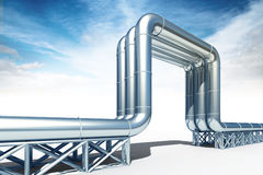 3d illustration of the high pressure oil ang gas pipeline isolat Royalty Free Stock Photography