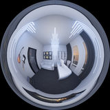 3d illustration of a home office in a space style Stock Images
