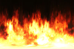 Hot fire wall background Royalty Free Stock Photography