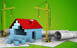 3d of crane Royalty Free Stock Images