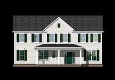 3D Illustration of a house elevation. With the isolation work path included in the file Royalty Free Stock Images