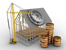 3d house frame Royalty Free Stock Images