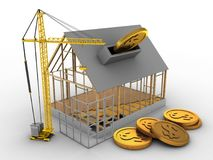3d house frame Royalty Free Stock Photo