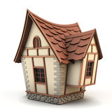 3D Illustration of a House Royalty Free Stock Photo