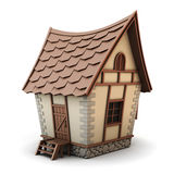 3D Illustration of a House. Isolated on white background. House cartoon Stock Photo