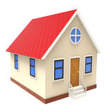 3d illustration of house over white background Royalty Free Stock Photography