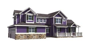 3D Illustration of a house with ultra violet siding Royalty Free Stock Images