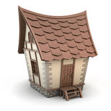 3D Illustration of a House. On white background. House cartoon Royalty Free Stock Photo