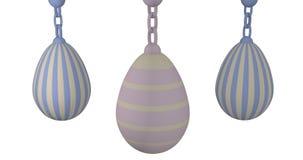 3d-illustration, huevos de Pascua en colores pastel Imagen de archivo