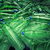 Hundreds of plastic drinking bottles wildly mixed up on a big heap. 3d illustration of hundreds of plastic drinking bottles wildly mixed up on a big heap royalty free illustration