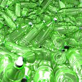 Hundreds of plastic drinking bottles wildly mixed up on a big heap. 3d illustration of hundreds of plastic drinking bottles wildly mixed up on a big heap vector illustration