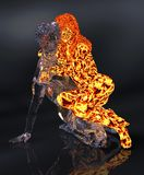 Ice and fire 3d illustration. 3D Illustration Ice male figure and fire female figure Royalty Free Stock Photo