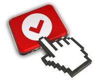 Accept Icon. 3D illustration Icon- Hand Cursor Click Royalty Free Stock Image