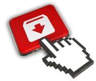 Archive Icon. 3D illustration Icon- Hand Cursor Click Stock Photo