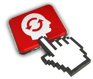 Brain Storm Icon. 3D illustration Icon- Hand Cursor Click Stock Photo