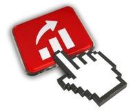 Growth Graph Icon. 3D illustration Icon- Hand Cursor Click Stock Image