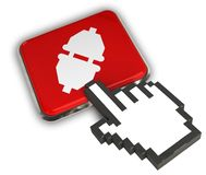 Plugged Icon. 3D illustration Icon- Hand Cursor Click Royalty Free Stock Image