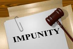 IMPUNITY - legal concept Stock Photo