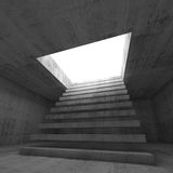 3d illustration interior background with stairway Royalty Free Stock Image