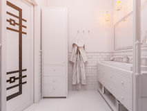 3d illustration of a interior design bathroom Stock Images