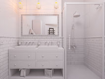 3d illustration of a interior design bathroom Stock Photo
