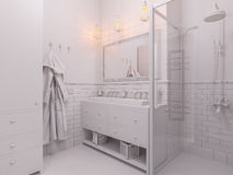 3d illustration of a interior design bathroom Royalty Free Stock Photo