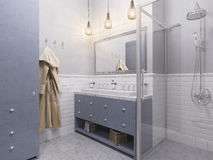 3d illustration of a interior design bathroom Stock Photography