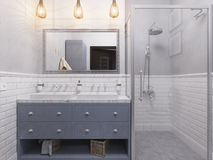 3d illustration of a interior design bathroom Royalty Free Stock Image