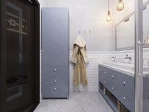 3d illustration of a interior design bathroom. 3d illustration of a design bathroom interior in classic style Stock Photos