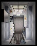 3d illustration of the interior design kitchen Stock Image