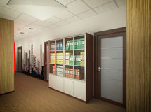 3D illustration of interior design of office of agency of real e Royalty Free Stock Photos