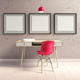 3d illustration, interior hipster Royalty Free Stock Photos