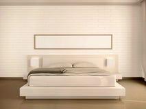 3d illustration of interior modern light bedroom Stock Photos