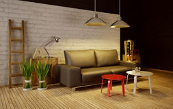 3d illustration interior Stock Photography