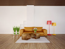 3d illustration interior Stock Image
