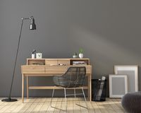 Interior of the workplace in gray tones Royalty Free Stock Photography