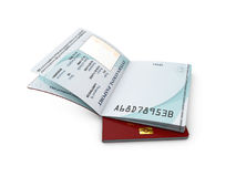 3d Illustration of international passport template with personal data page Stock Photography