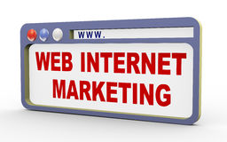 3d concept of web internet marketing Stock Photography