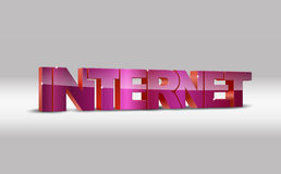3d illustration of internet Royalty Free Stock Image