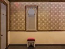 3d illustration Islamic style interior design Stock Images