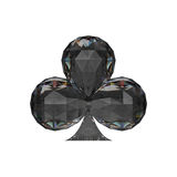 3D illustration isolated casino black club diamond. On a white background Stock Photos