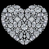 3D illustration isolated diamonds heart. On a black background Stock Photos