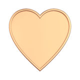 3D illustration isolated rose gold heart. On a white background Stock Photography